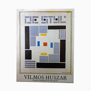 De Stijl Poster by Vilmos Huszar, 1985