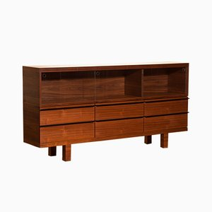Sideboard with Showcase in Walnut, 1980s
