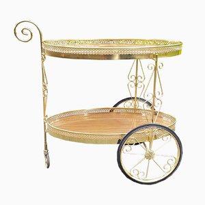 Chariot de Bar Vintage en Laiton, Italie