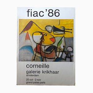 Póster de la exposición de Guillaume Corneille en la Galerie Krikhaar, 1986