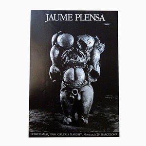 Affiche par Jaume Plensa pour Maeght, 1986