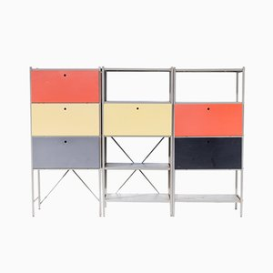Model 663 Wall Units by Wim Rietveld for Gispen, 1950s, Set of 3