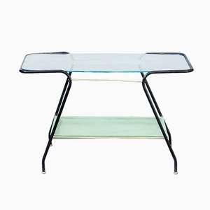 Glass & Metal Coffee Table, 1950s
