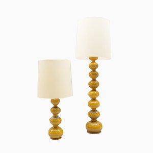 Keramik Stehlampes von Kaiser Leuchten, 1960er, 2er Set