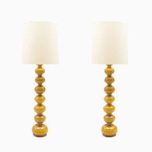 Ceramic Floor Lamps from Kaiser Leuchten, 1960s, Set of 2