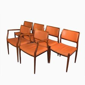 Palisander Stühle von Niels Otto Møller, 1960er, 6er Set