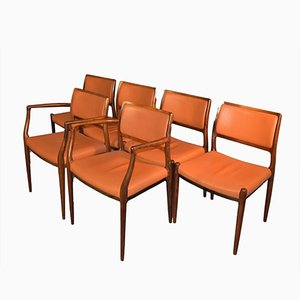 Rosewood Chairs by Niels Otto Møller, 1960s, Set of 6