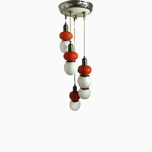 Mid-Century Opaline Glass Light Pendant from Mazzega