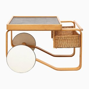 Carrello da tè modello 900 di Alvar Aalto per Artek, Finlandia, anni '30
