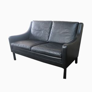 Mid-Century Danish Leather Sofa