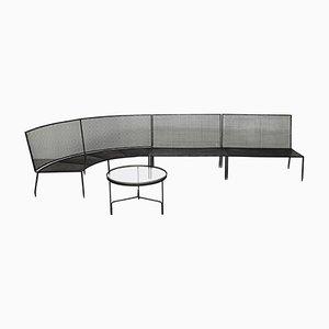 Corner Sofa & Coffee Table by Mathieu Matégot for Atelier Matégot, 1950s