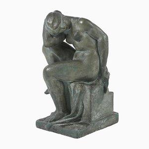 Große Gips Skulptur von Alexandre Calinescu, 1940er