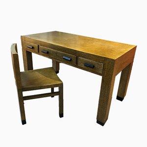 Schreibtisch mit Stuhl von Gino Levi Montalcini & Giuseppe Pagano für F. I. P., 1929