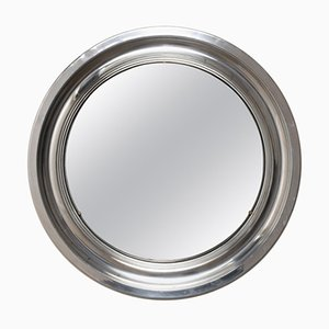 Miroir Rond en Aluminium, Italie, 1960s