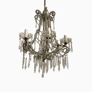 Vintage Kristallglas Perlen Kronleuchter