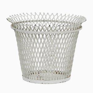 Enameled Metal Basket by Mathieu Matégot for Atelier Matégot, 1950s