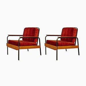 Mid-Century French Easy Chairs, Set of 2