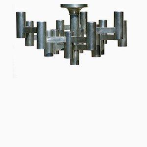 Skulpturale Deckenlampe von Gaetano Sciolari, 1970er