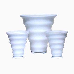Lámparas de mesa italianas de cristal de Murano. Juego de 3