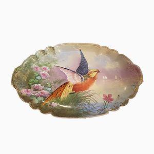 Large Decorative Porcelain Plate from Gérard Dufraisseix Abbot, 1890s