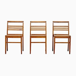 French Side Chairs by Rene Gabriel, 1940s, Set of 3