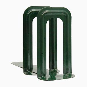 Sujetalibros antiguos en verde botella de Bernard-Albin Gras para Gras Ravel. Juego de 2