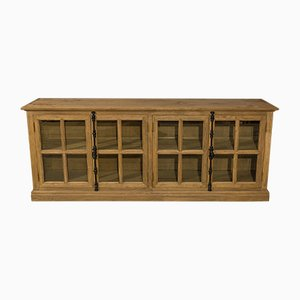 Vintage Glazed Solid Oak Cabinet