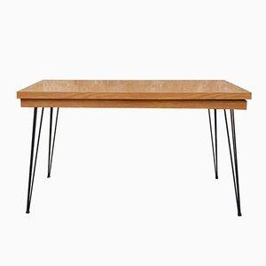 Table Vintage avec Plateau en Formica et Pieds en Épingle, 1950s
