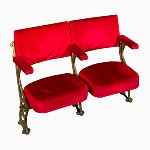 Vintage Theatre Balcony 2-Seater Bench