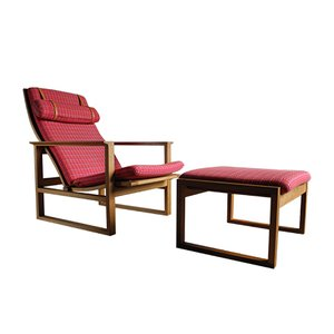 2254 Lounge Chair & 2248 Ottoman by Børge Mogensen for Fredericia, 1950s