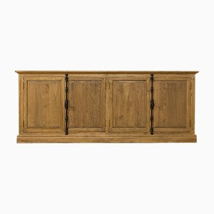 Solid Oak Double Cupboard, 1980s
