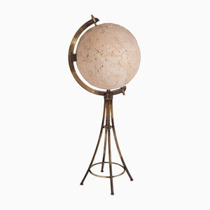 Mueble bar en forma de esfera lunar de latón, años 70