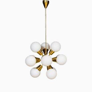 Lámpara de araña Sputnik de Preciosa, años 70