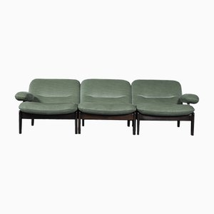 Green Sectional Sofa from Leolux, 1970s