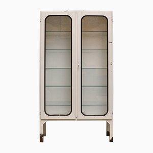 Mobiletto vintage in ferro e vetro, anni '70