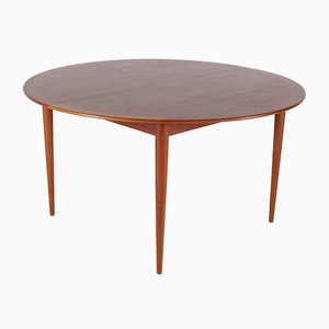 Large Round Table with 2 Extensions by Arne Vodder for Sibast, 1960s