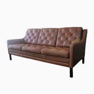 Mid-Century Leder Sofa, 1970er