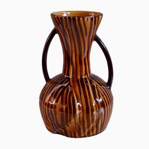 Vase de Faïencerie de Sarreguemines, France, 1960s