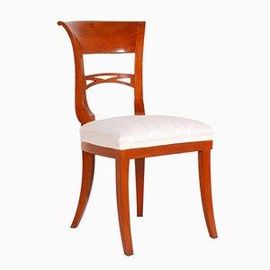 Sedia in stile Biedermeier vintage in ciliegio