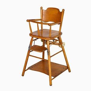 Buchenholz Kinderstuhl mit Table, 1960er