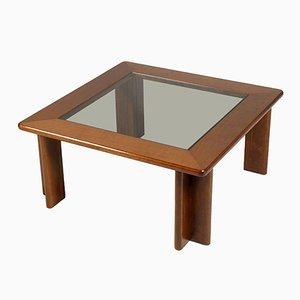 Tavolino da caffè vintage in legno di noce laccato