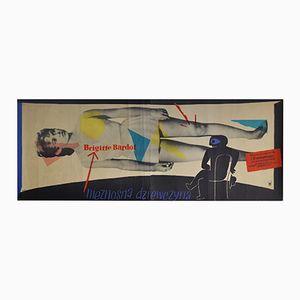 Affiche Cette Sacrée Gamine par Wojciech Zamecznik pour CWF, Pologne, 1957