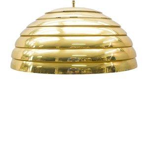 Large Brass Pendant Lamp from Vereinigte Werkstätten München, 1960s