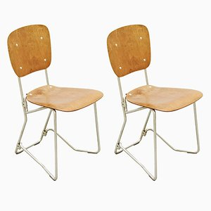 First Edition Chairs by Armin Wirth for Aluflex, 1950s, Set of 2