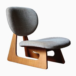 Japanese Teiza Lounge Chair by Junzo Sakakura for Tendo Mokko, 1960s