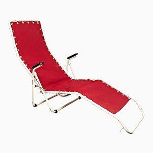 Rote Chaise Lounge von Everest, 1950er