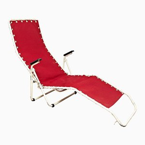 Rote Chaise Lounge von Everest, 1960er
