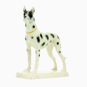 Great Dane Porcelain Sculpture from Hertwig & Co, 1940s
