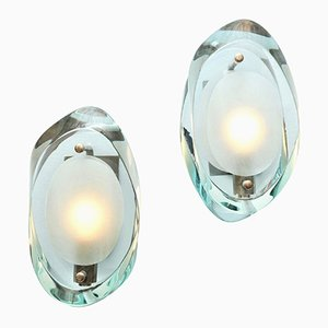 Model 2093 Wall Sconces by Max Ingrand for Fontana Arte, 1960s, Set of 2