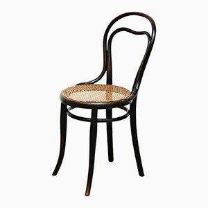 Rattan & Holz Beistellstuhl von Thonet, 1930er